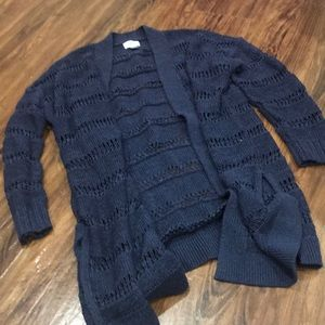 Navy Blue cardigan - open weave